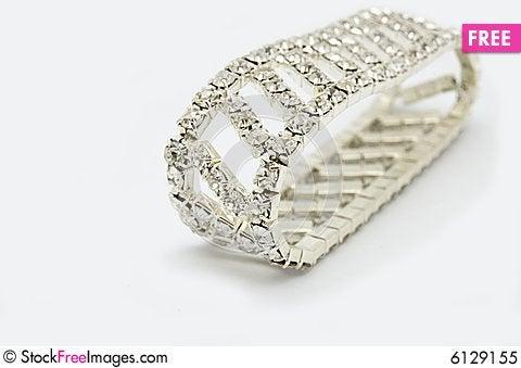 Free Silver Bracelet Royalty Free Stock Photo - 6129155