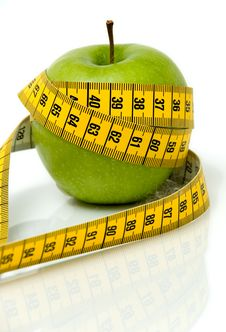 Free Apple And Measuring Tape Stock Photos - 6120123