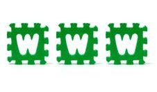 Free Sponge Letters Spelling Www Royalty Free Stock Image - 6120566