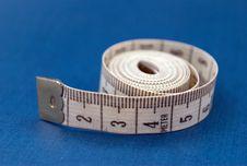 Free Centimeter On Blue Stock Photos - 6121303