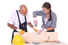Free Construction Workers At Work Royalty Free Stock Photos - 6121848