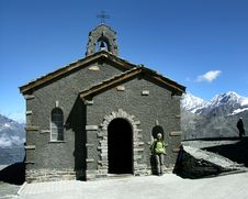 Free Church In Alps Mountains Stock Images - 6122324
