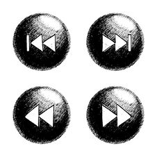 Free Sketchy Orb Button Royalty Free Stock Photo - 6122755