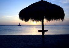 Free Tropical Caribbean Sunset, Aruba Stock Photos - 6123023