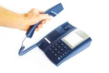 Free Telephone Receiver In Hand Stock Images - 6123064