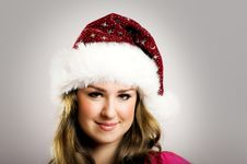 Free Christmas Portrait Of A Woman Stock Photography - 6123092