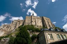 Free Mont Saint-Michel From Below Stock Photography - 6123522