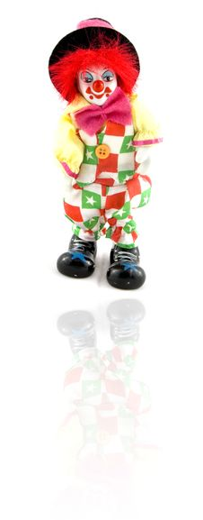 Free Clown With Reflection Stock Image - 6123541