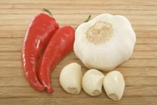 Free Peppers And Garlic Stock Photography - 6124102