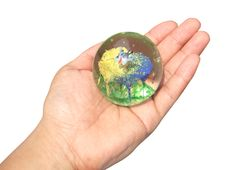 Free Glass Ball In Hand Royalty Free Stock Photography - 6124167