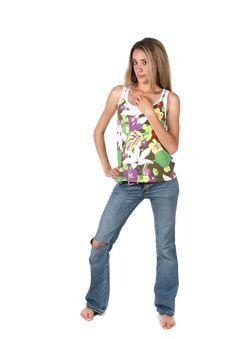 Pretty Fashion Teen Royalty Free Stock Image