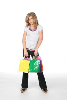 Free Girl School Shopping Stock Images - 6124294