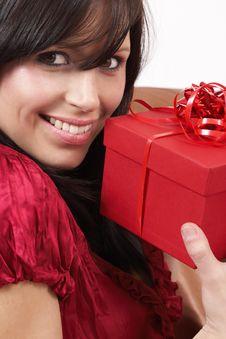 Free Portrait Of Beautiful Brunette Woman Stock Photos - 6124353