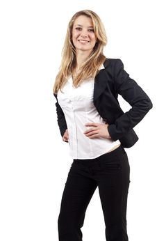 Free Beautiful Blonde Businesswoman Royalty Free Stock Photos - 6124398
