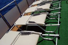 Free Sunbeds On Board Royalty Free Stock Photo - 6124865