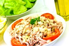 Free Gourmet Meat Salad With Tomato,onion,lettuce Stock Photo - 6125240