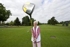 Free Elderly Golfer Stock Images - 6125674