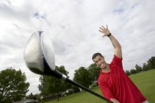 Free Man With Golf Club - Horizontal Stock Photos - 6125783