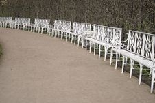 Free White Benches Stock Photos - 6126263