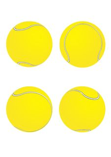 Free Tennis Balls [Yellow] Stock Images - 6126804
