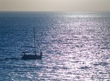 Free Small Yacht In The Sea Stock Photography - 6127222