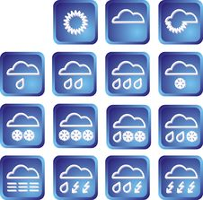 Free Set Of Weather Buttons Stock Image - 6127561