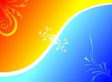 Free Orange Blue Texture Royalty Free Stock Image - 6127896