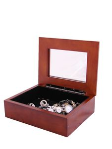 Jewelry Box With A Mirror Royalty Free Stock Images