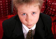 Free Sad Little Boy Royalty Free Stock Photos - 6128218