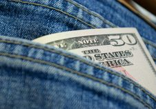 Free Dollars In Back Pocket Royalty Free Stock Photo - 6128495