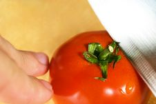 Free Cutting Of Tomato Stock Photography - 6128682