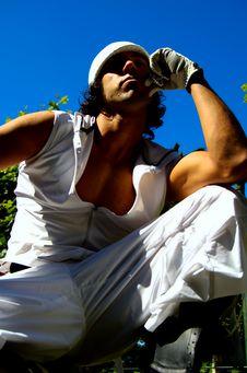 Latin Street Dancer Royalty Free Stock Photo