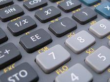 Free Calculator Detail Royalty Free Stock Photos - 6129098