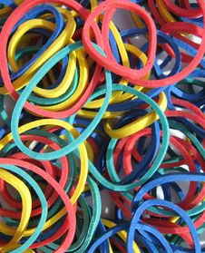 Free Colorful Rubber Bands Stock Photo - 6129120