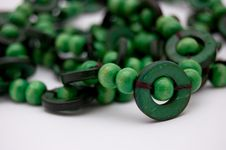 Free Green Beads Royalty Free Stock Image - 6129166