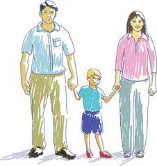 Free Happy Family Stock Photography - 6129232