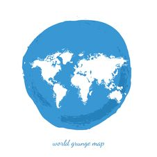 Free World Map Watercolor, Vector Illustration Royalty Free Stock Images - 61200599