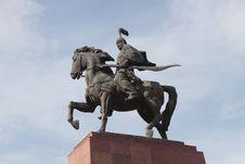 Free Manas Statue In Bishkek Royalty Free Stock Image - 61266606