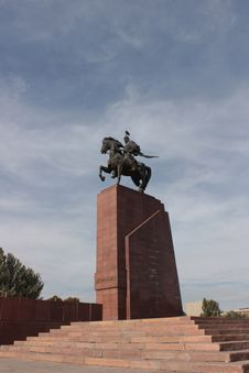 Free Manas Statue In Bishkek Royalty Free Stock Photos - 61266638