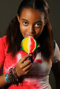 Free Girl With Lollipop Stock Photo - 6130710