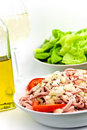 Free Gourmet Meat Salad With Tomato,onion,lettuce Stock Image - 6134591