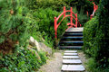 Free Japanese Bridge In The Park Stock Photo - 6135830