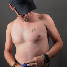 Chest Tattoo Stock Image