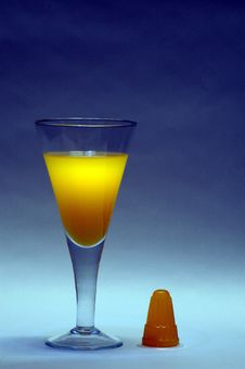 Free Goblet With Fruits Juice. Stock Photo - 6131010