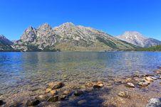Jenny Lake In Grand Teton Stock Photography