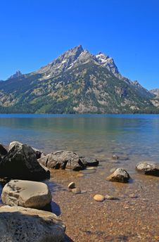 Jenny Lake In Grand Teton Royalty Free Stock Image