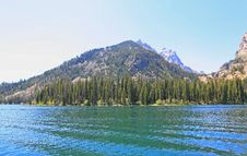 The Jenny Lake In Grand Teton Stock Photos