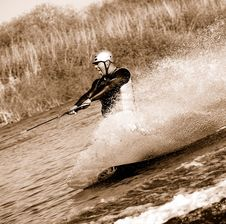 Free Tongue Out While Wakeboarding Stock Photography - 6131852