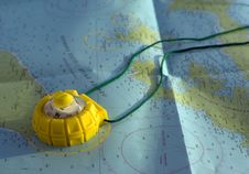 Free Map And Compass Stock Photo - 6132150