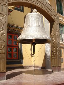 Bell In The Bouddhanath Area Royalty Free Stock Photos